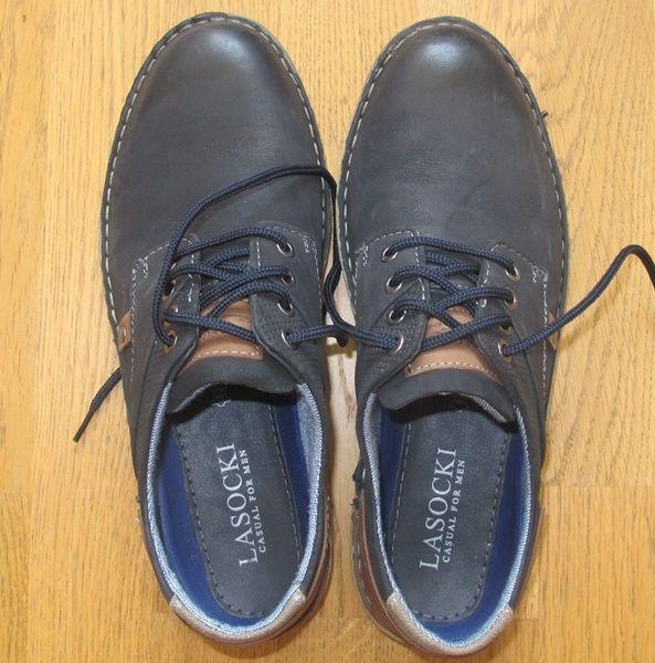 Туфли  -Lasockі- на 41 розмір, стелька 27,5 см, шкіра, легкі, відмінного якості.