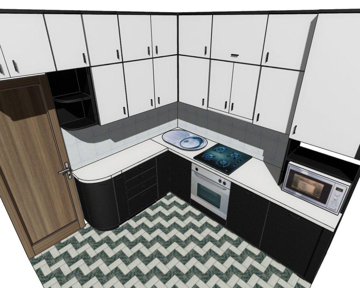 Дизайн корпусних меблів – спальні, кухні, шафи, купе прихожі  в програмі PRO100