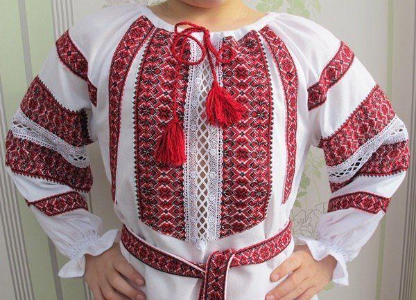Вишиванка сорочка-сукня на 122-140 см