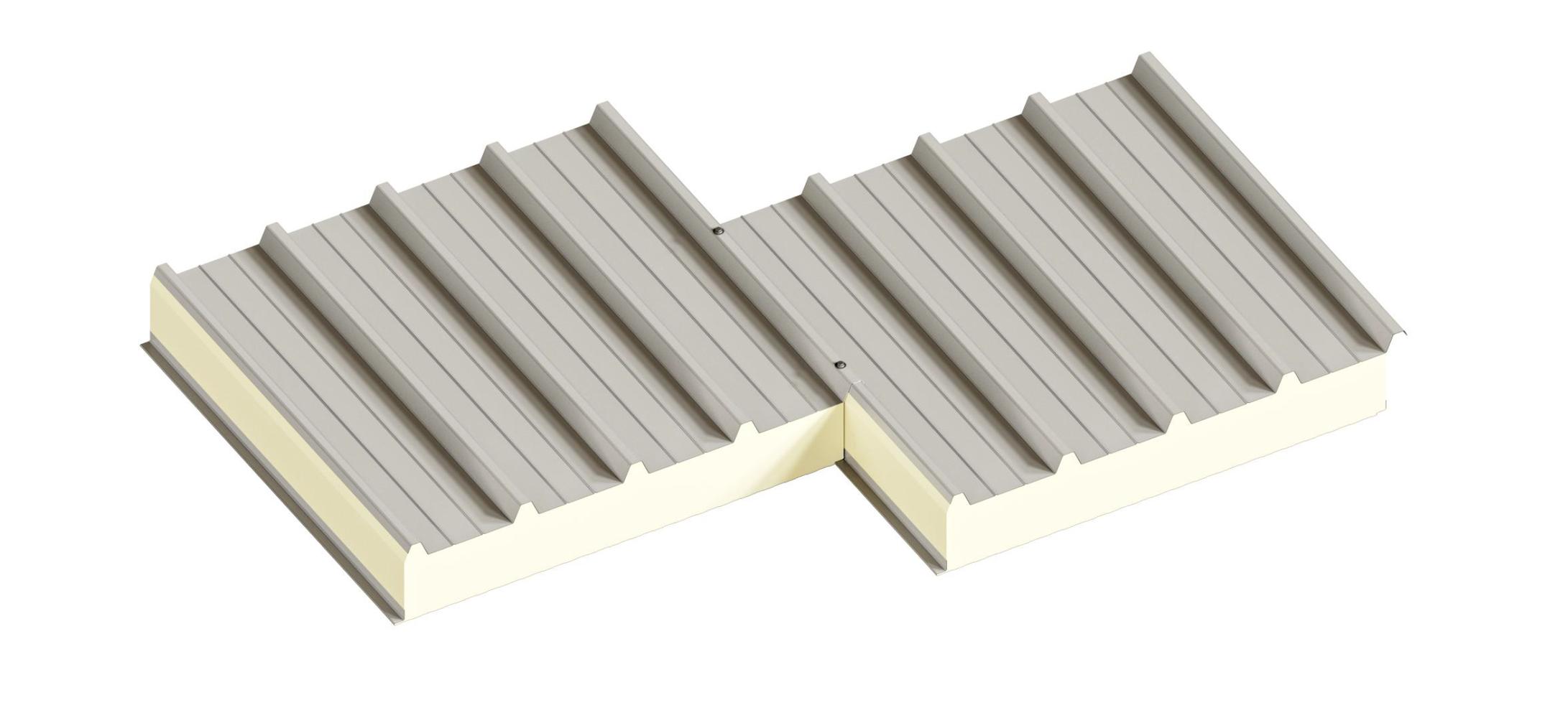 Сендвіч-панелі дахові поліуретан (PUR) та пінополіізоціанурат (PIR)