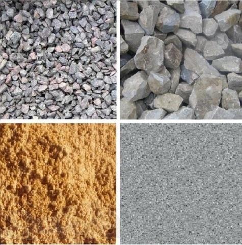 Пісок, щебінь, відсів.
