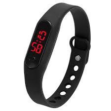 Електронний спортивний LED годинник-браслет.