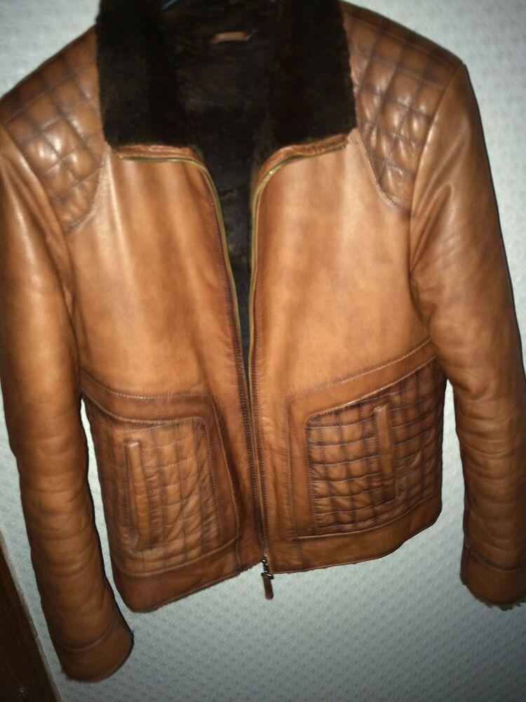 Зимова шкіряна куртка